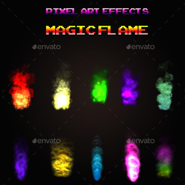 Pixel Art - Effects 07 - Sprites Game Assets