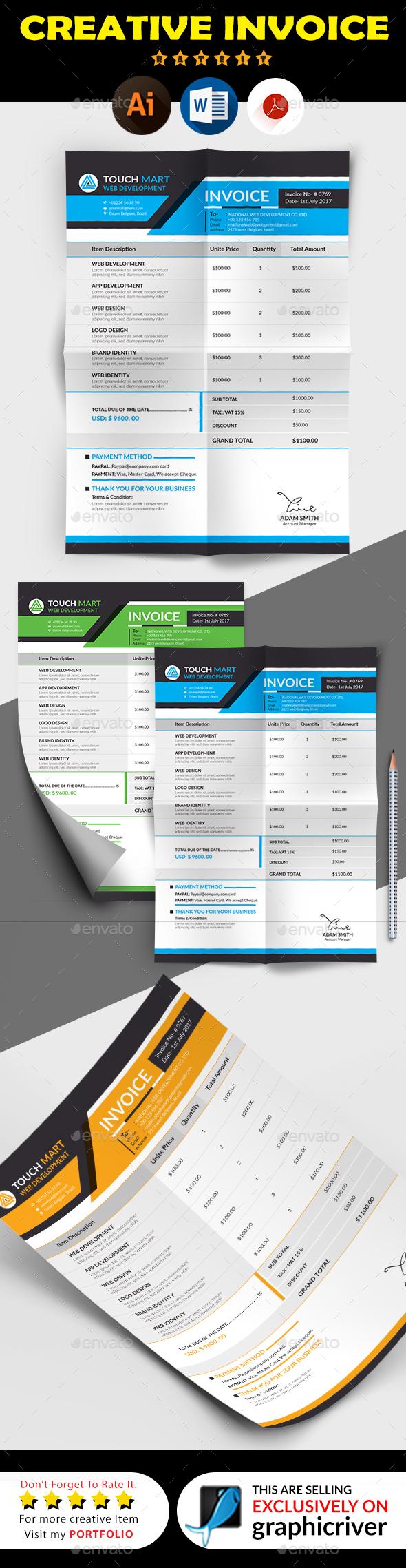 GraphicRiver Invoice 20260896