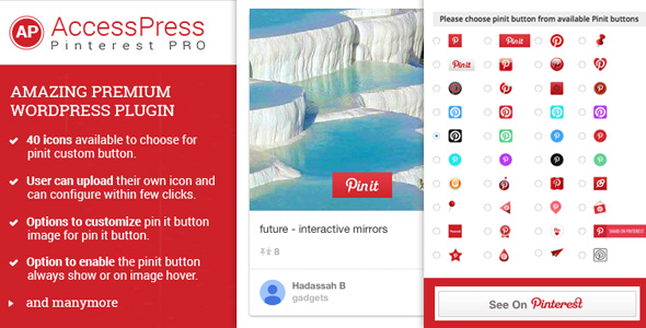 AccessPress Pinterest Pro - CodeCanyon Item for Sale