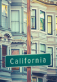 Retro California Street Sign