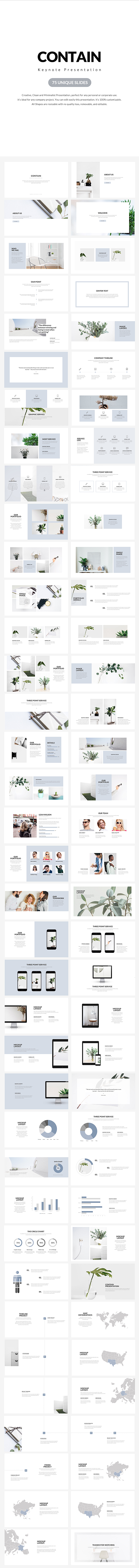 Contain Keynote Presentation - Creative Keynote Templates