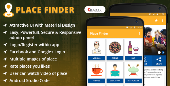 Place Finder Android App - CodeCanyon Item for Sale