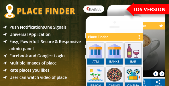 Place Finder iOS App - CodeCanyon Item for Sale