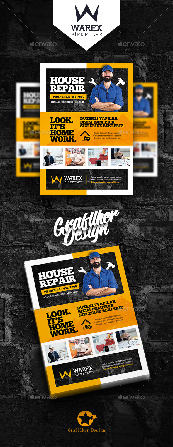 House Repair Flyer Templates - Corporate Flyers