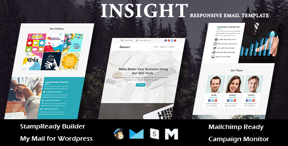 INSIGHT - Multipurpose Responsive Email Templates with Stamp Ready Builder Access
