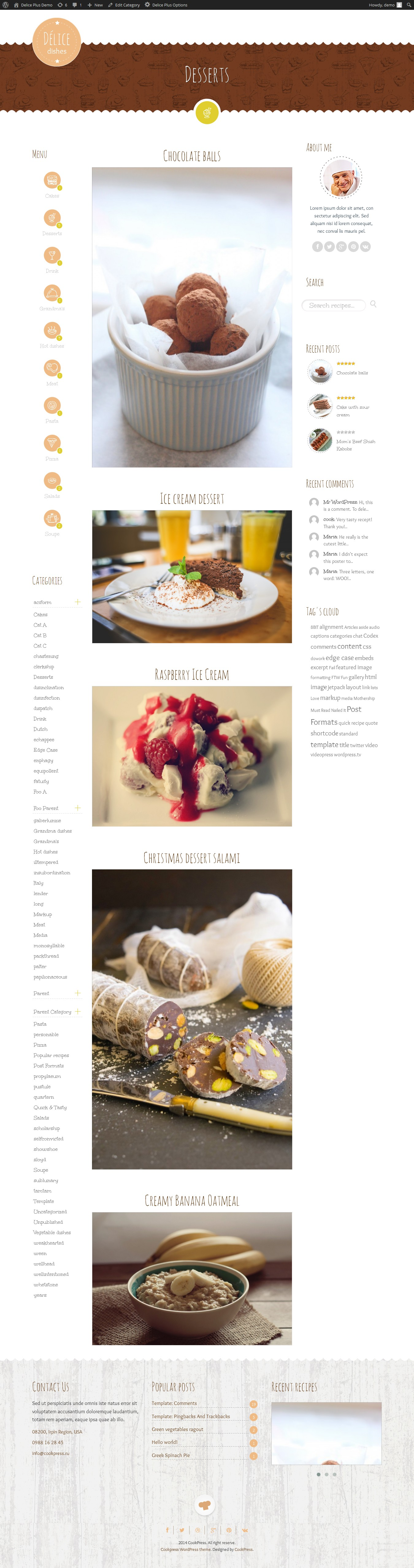delice plus cooking or crafting wp theme \u2022 by cookpress  american regional cuisine firefox.php #14
