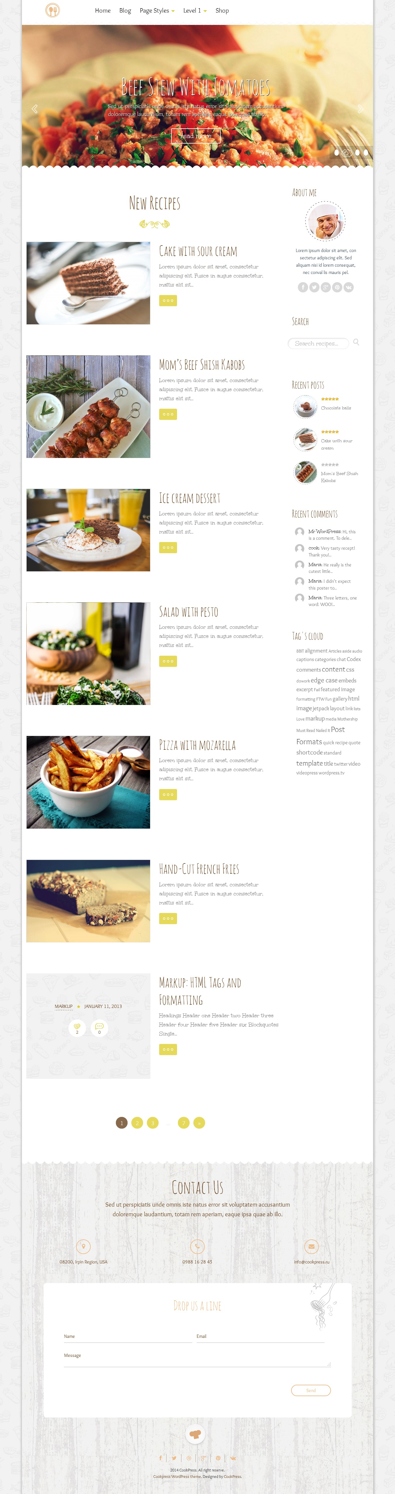 delice plus cooking or crafting wp theme \u2022 by cookpress  american regional cuisine firefox.php #2