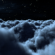 Fly Through The Night Clouds With Full Moon - VideoHive Item for Sale