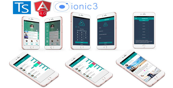 Ionic 3 mobile app UI responsive / Angular 4 new features Support i18n.