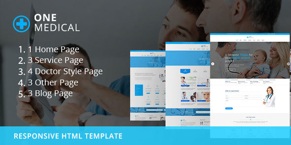 OneMedical - Responsive Bootstrap Template - Health & Beauty Retail