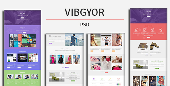 VIBGYOR - PSD Template - Creative PSD Templates