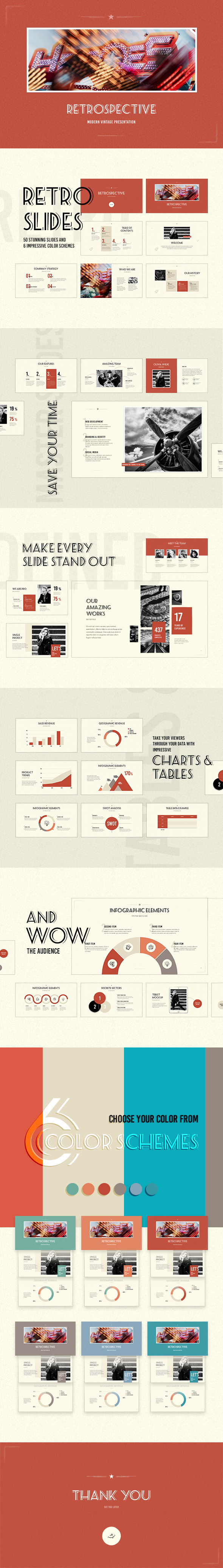 Retrospective PowerPoint Template - Creative PowerPoint Templates