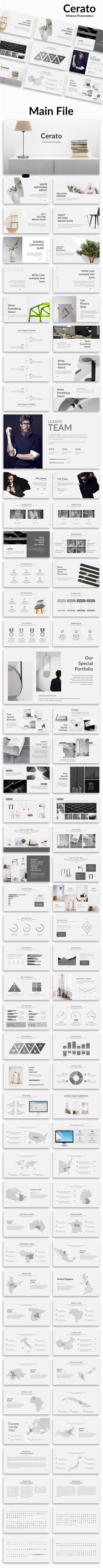 Cerato Minimal Google Slide Template - Google Slides Presentation Templates