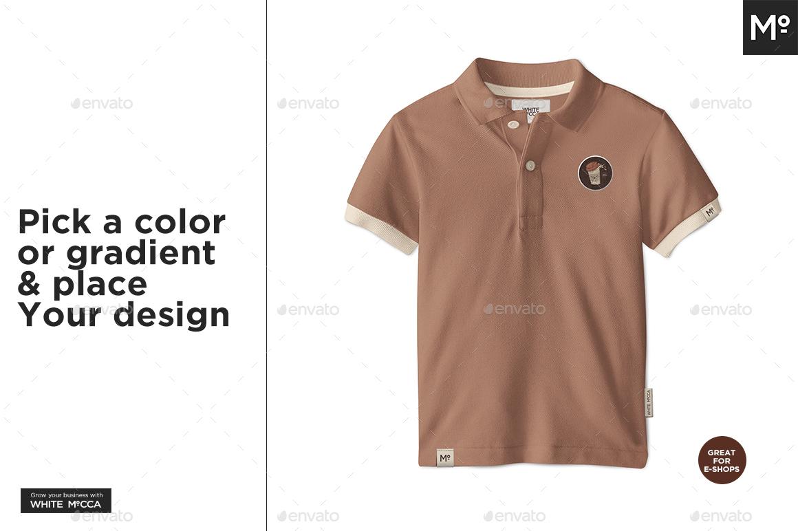 da7d68964c Kids Polo Shirt Mock-up