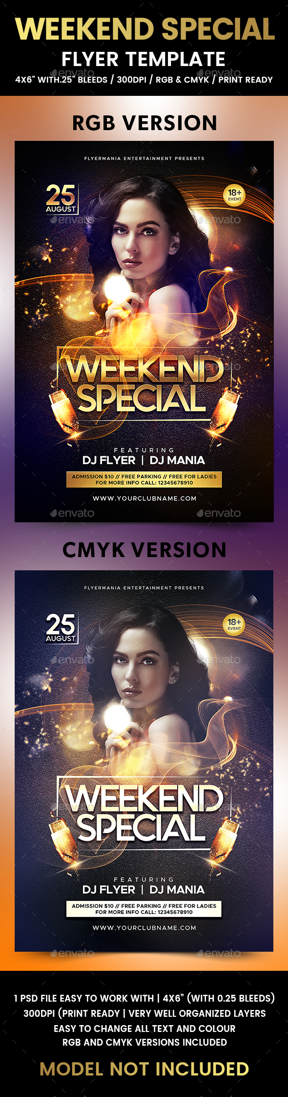 Weekend Special Flyer Template - Flyers Print Templates