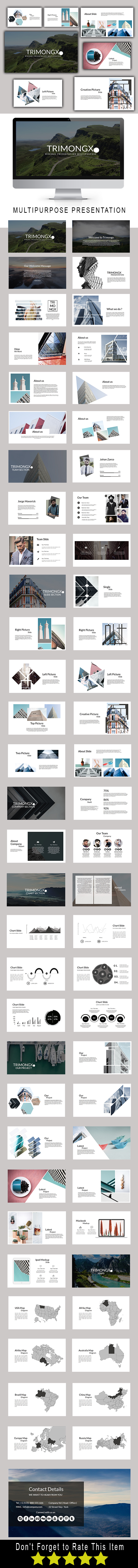 Trimongx Multipurpose Google Slide Template - Google Slides Presentation Templates