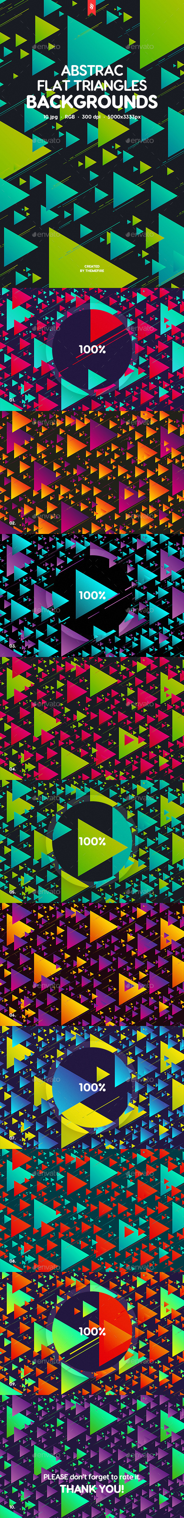 Abstract Flat Triangles Backgrounds - Patterns Backgrounds