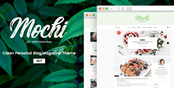 Mochi – A Clean Personal WordPress Blog Theme (Personal) images