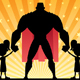 Super Dad with Two Twin Girls - GraphicRiver Item for Sale