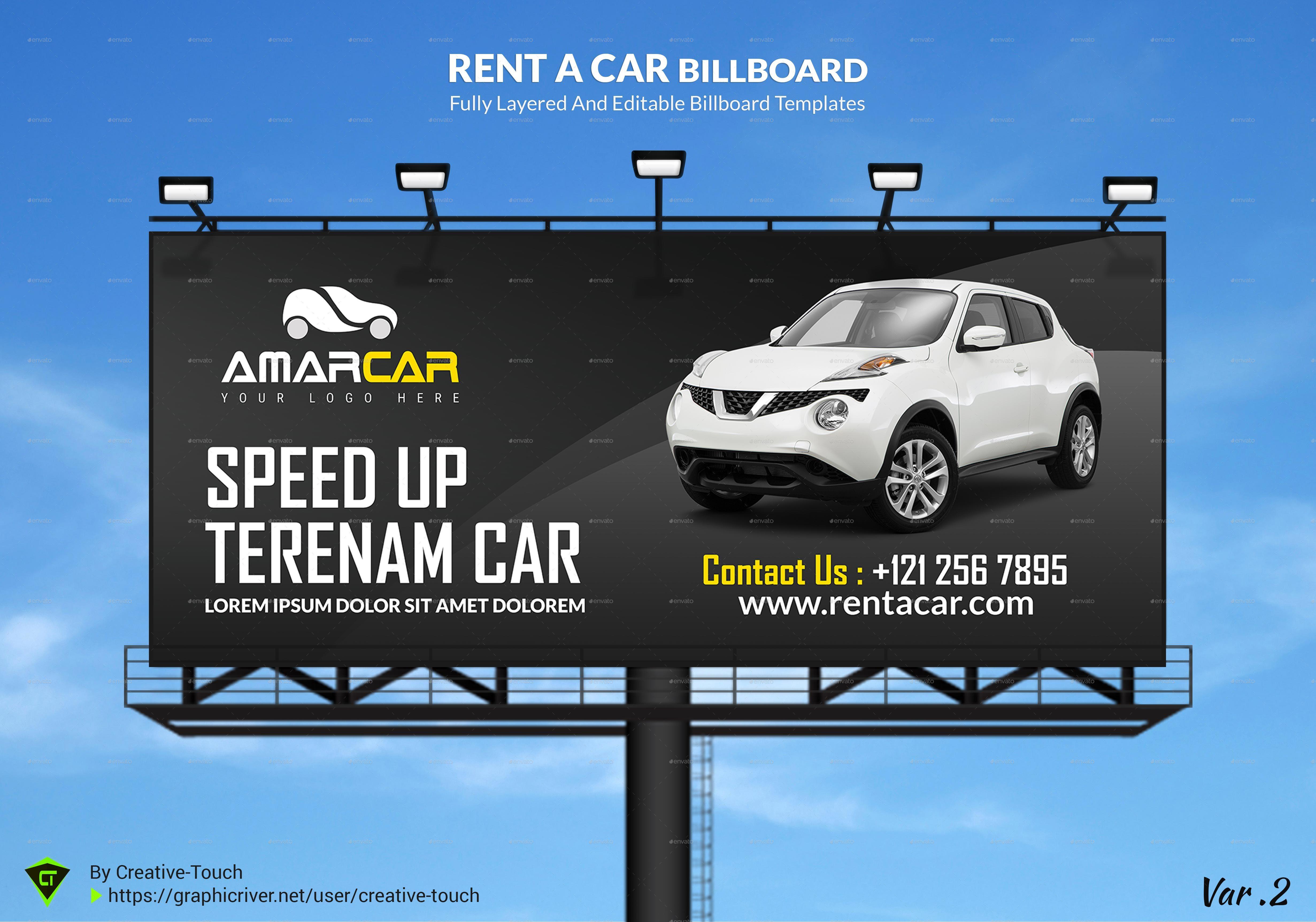 rent a car advertising bundle vol 1 by creative