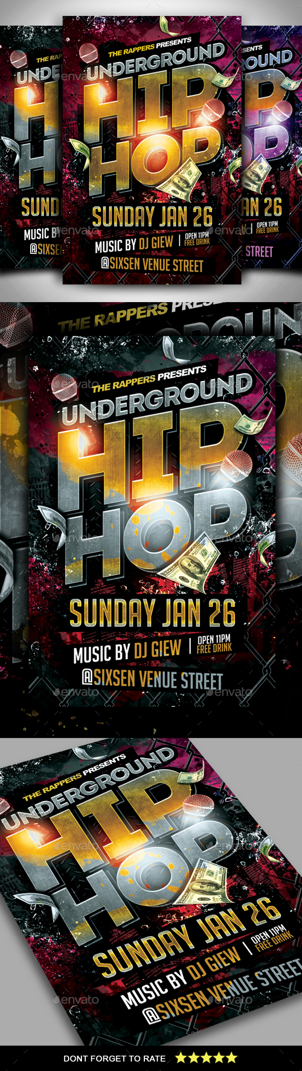 Hip Hop Flyer - Clubs & Parties Events