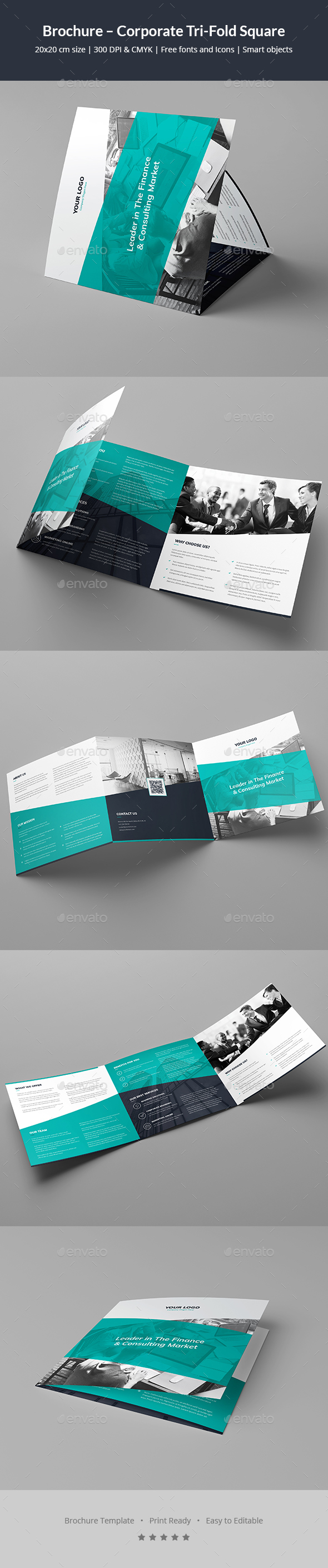 Brochure – Corporate Tri-Fold Square - Corporate Brochures