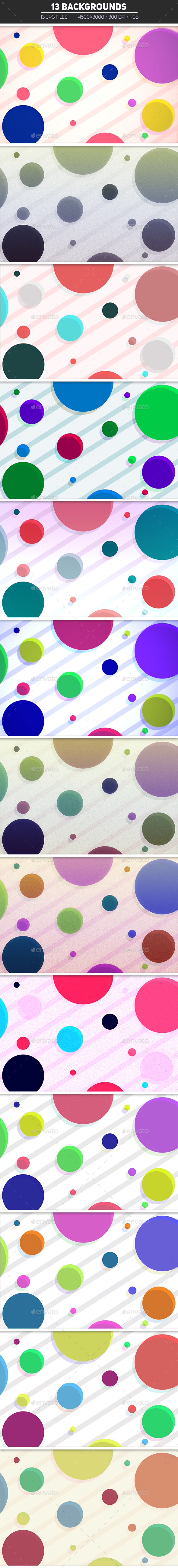 Colorful Rounded Backgrounds - Miscellaneous Backgrounds