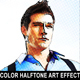 Color Halftone Art Effect