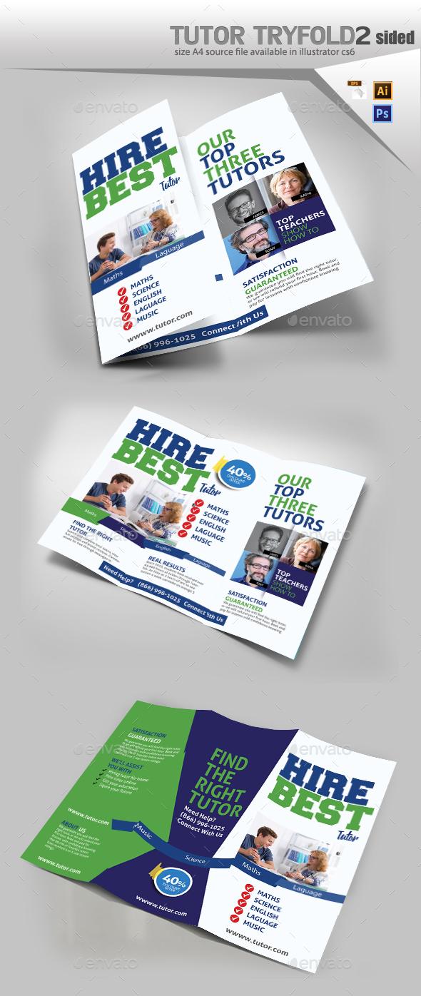 Tutor Trifold Brochure - Brochures Print Templates