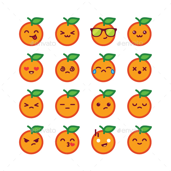 Orange Emoticon - Miscellaneous Characters