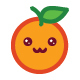 Orange Emoticon