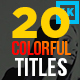 20 Colorful Corporate Titles - VideoHive Item for Sale