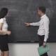 Business Meeting, Clean Blackboard