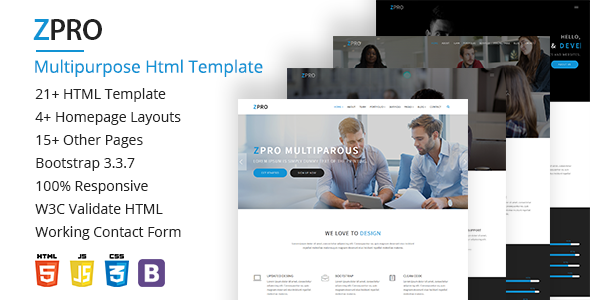 ZPRO Multipurpose HTML5 Template
