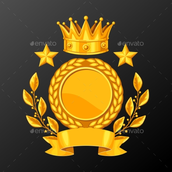 GraphicRiver Realistic Gold Cup with Laurel Wreath 20263703