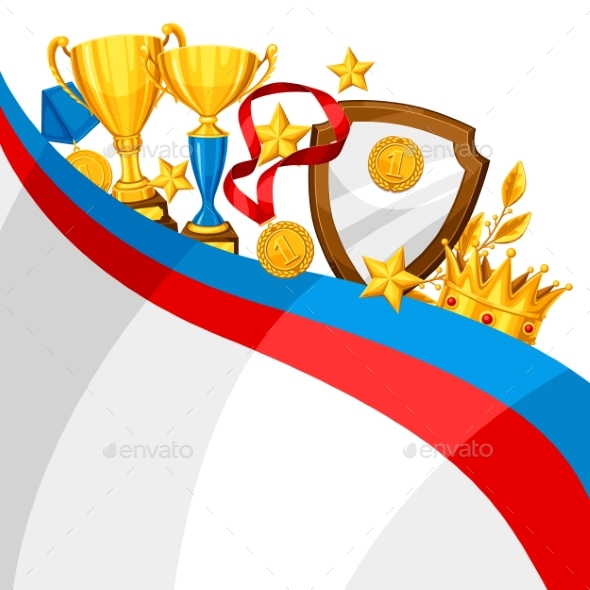 GraphicRiver Realistic Gold Cup and Other Awards Background 20263713