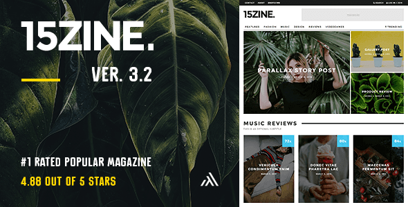 15Zine - HD Magazine / Newspaper WordPress Theme
