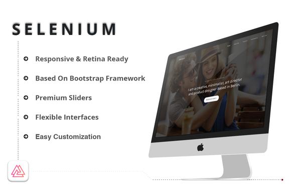 Selenium - Minimal Portfolio HTML Template