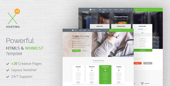XDATA - WHMCS7 & HTML5 Powerful Web Hosting Template