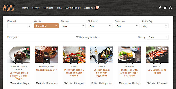 Recipes WordPress Theme - Food Retail