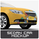 Sedan Car Mock-Up - GraphicRiver Item for Sale