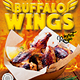 Flyer Poster Template for Chicken Wings Fast Food