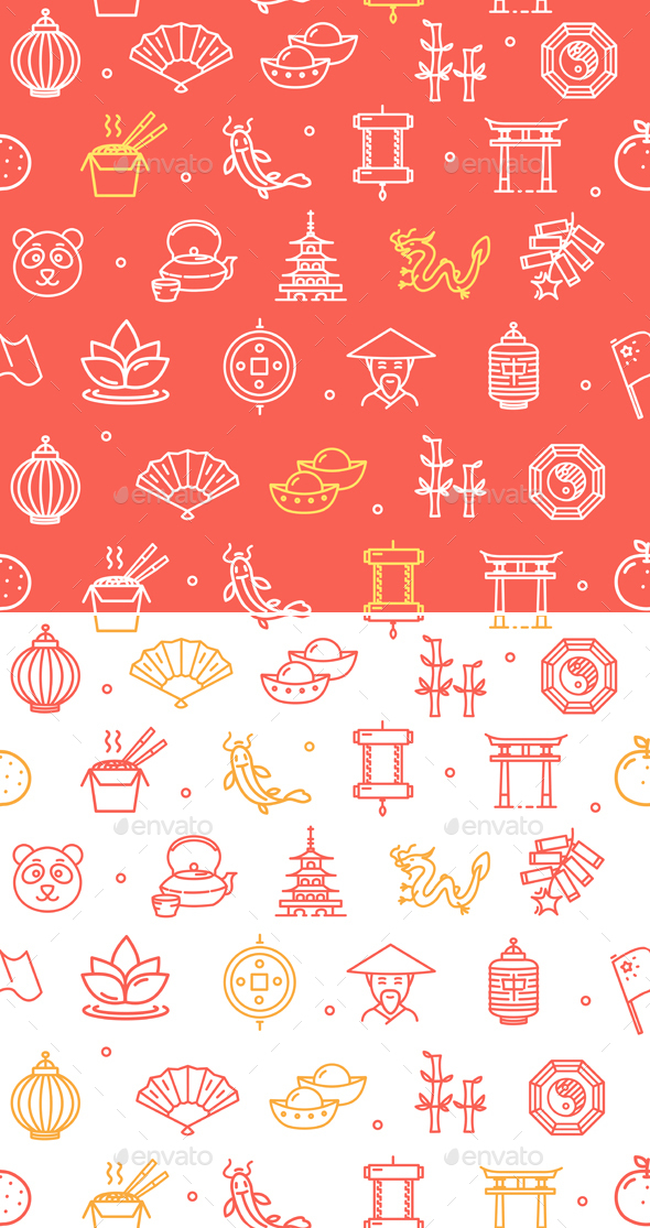 Symbol of China Pattern Background - Patterns Decorative