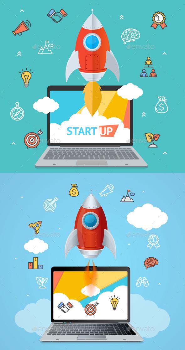 GraphicRiver Success Start Up Concept 20264320