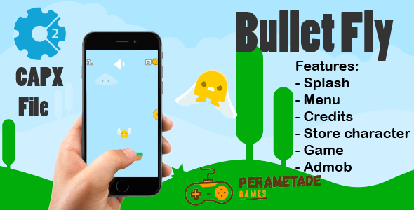 Bullet Fly - HTML5 Game - Construct 2 CAPX - CodeCanyon Item for Sale