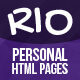 Personal HTML Templates - Rio - ThemeForest Item for Sale
