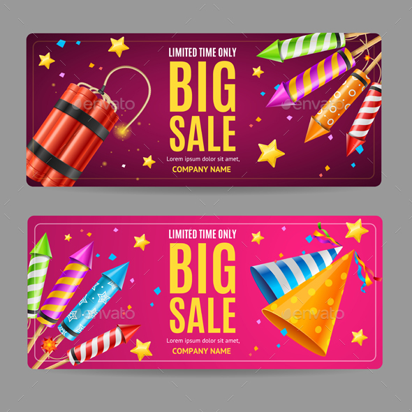 Big Sale Menu Option Banner Card Set - Retail Commercial / Shopping