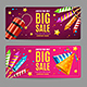 Big Sale Menu Option Banner Card Set