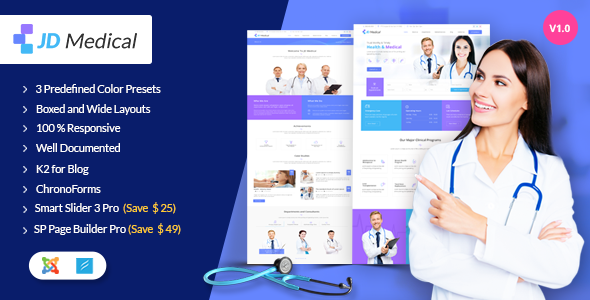 ThemeForest JD Medical Responsive Health & Medical Joomla Template 20264544