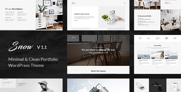 Snow | Minimal & Clean WordPress Portfolio Theme - Portfolio Creative
